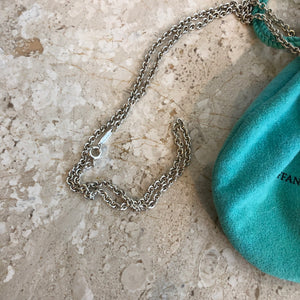 Authentic TIFFANY & CO. Sterling Silver Enchate Key Necklace