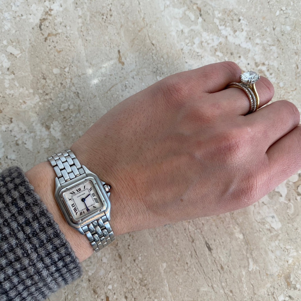 Authentic CARTIER Stainless Steel Tank Watch