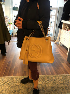 Authentic GUCCI Soho Rose Beige Tote