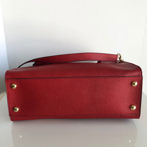 Authentic MICHAEL KORS Red Hamilton Satchel