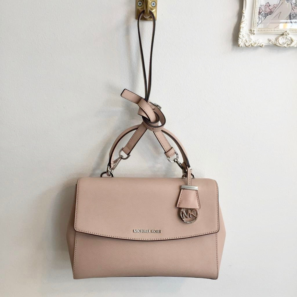 Authentic MICHAEL KORS Blush Canvas Top handle/Shoulder Bag