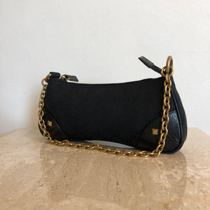 Authentic GUCCI Small Mongoram Chain Evening Bag