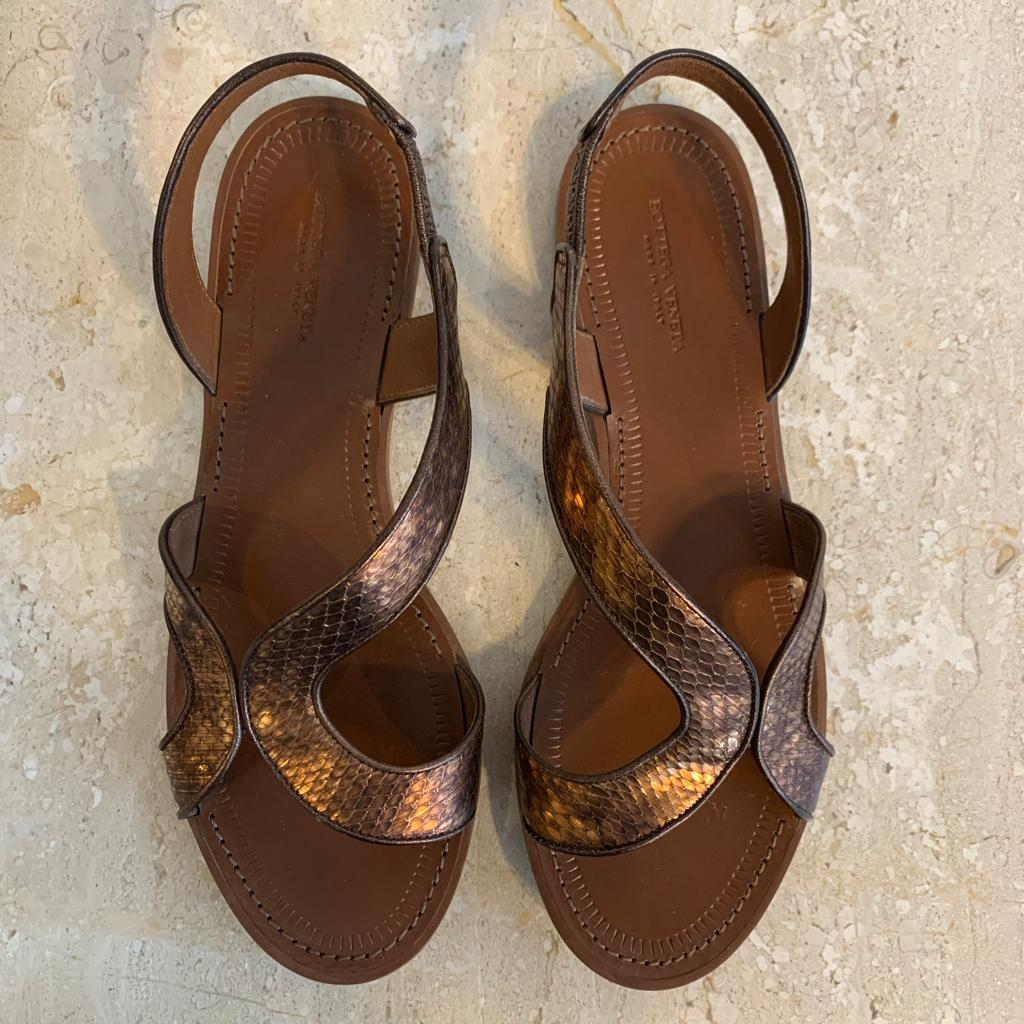 Authentic BOTTEGA VENETA Cooper Leather Sandal
