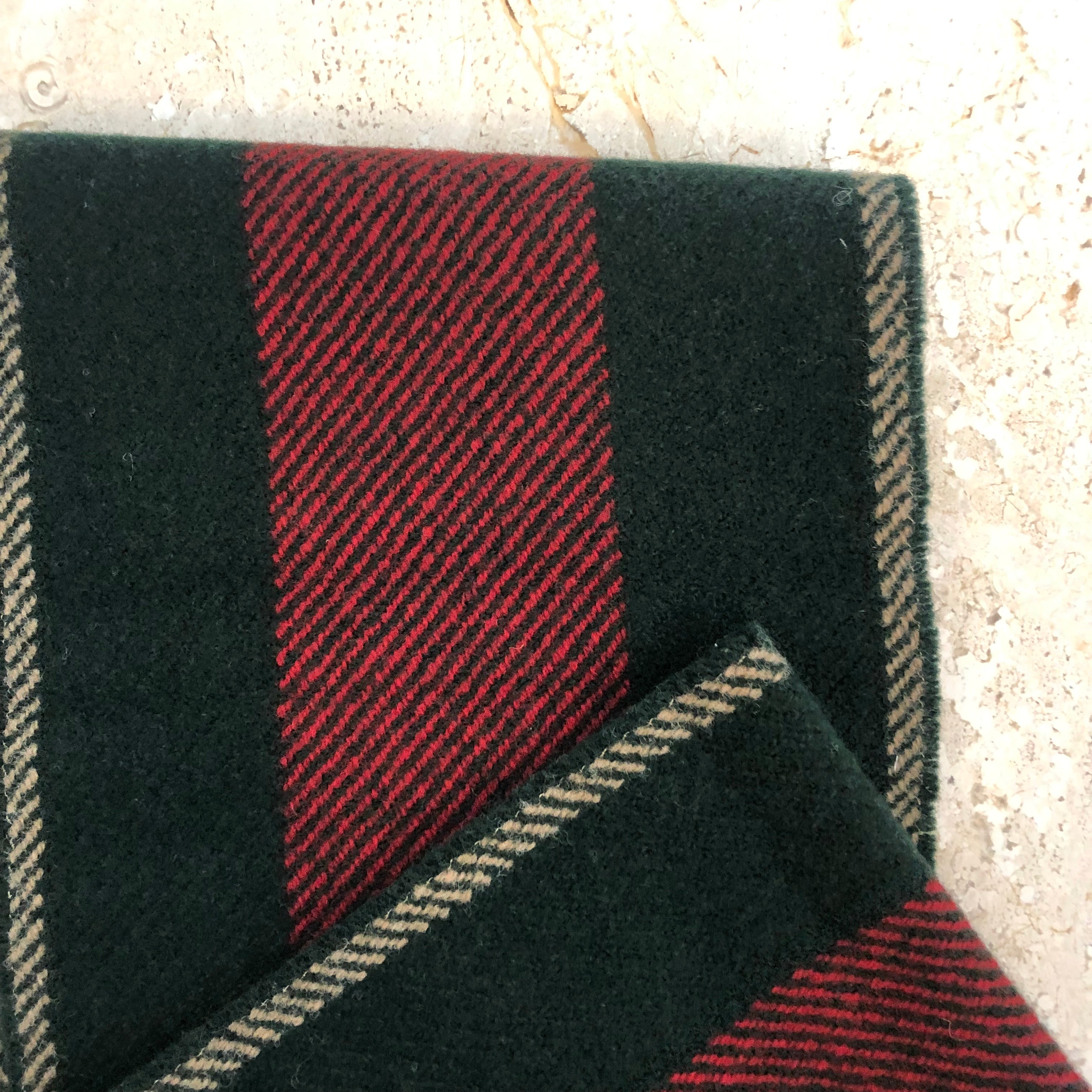 Authentic GUCCI Wool Woven Web Scarf