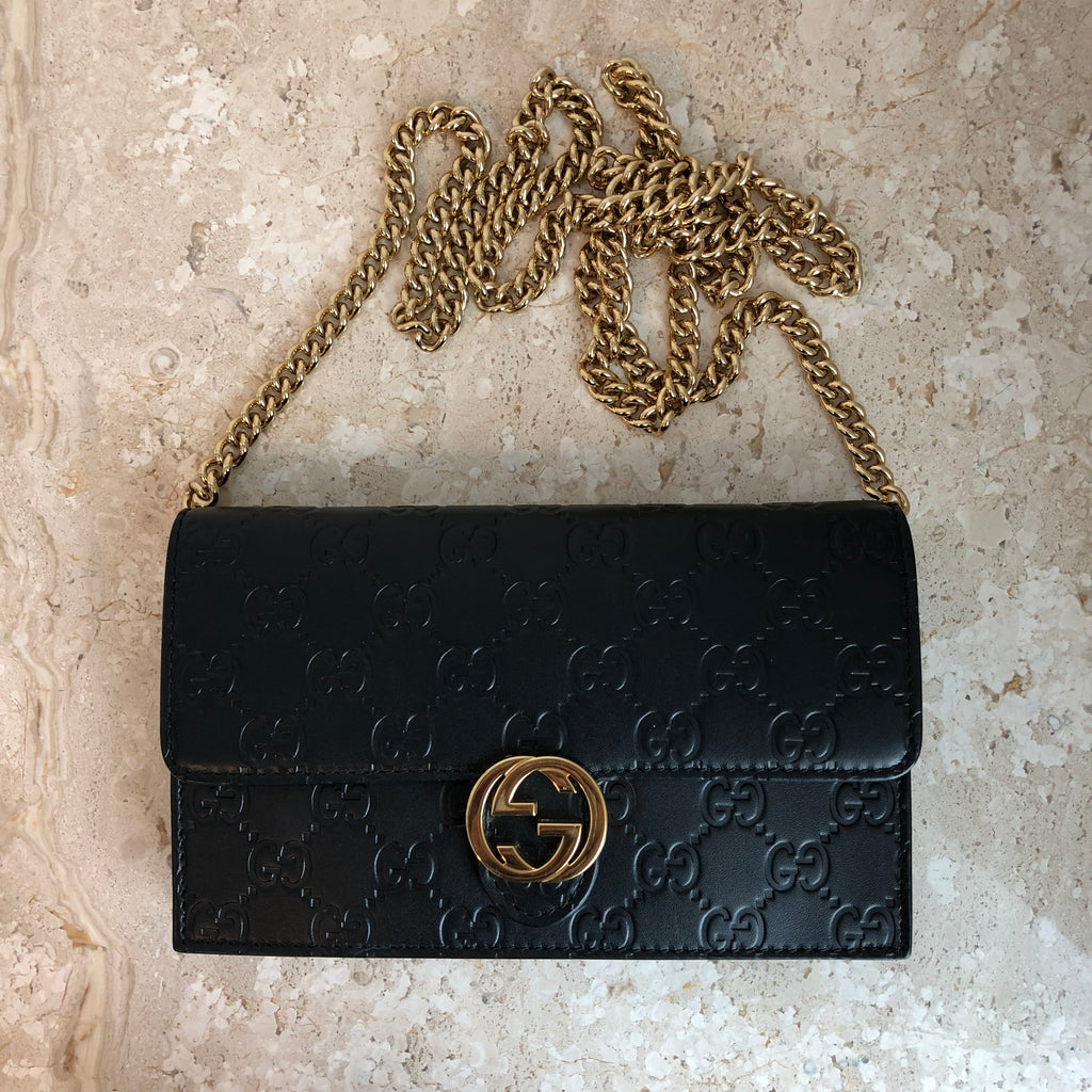 8003a8a628e9 Authentic GUCCI Guccissima Wallet On Chain