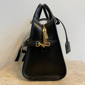 Authentic YVES SAINT LAURENT Small Black Cabas Tote.