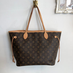 Authentic LOUIS VUITTON Neverfull MM pivione SD4108
