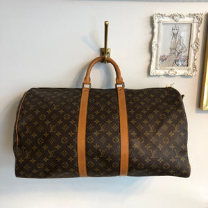 Authentic LOUIS VUITTON Monogram Keepall 55