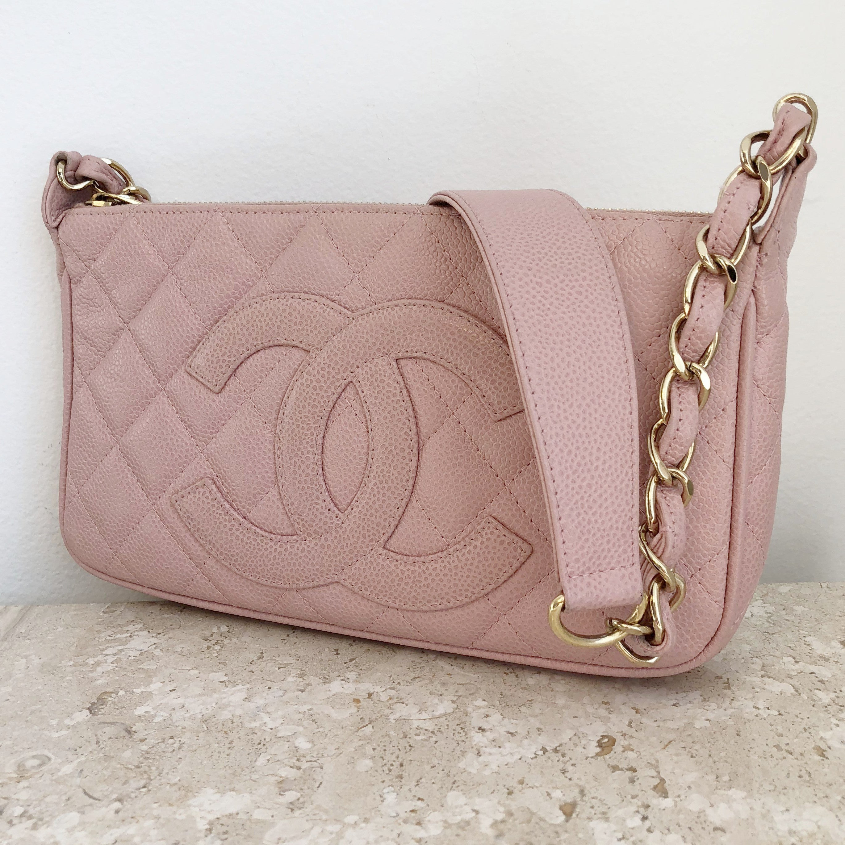 Authentic CHANEL Timeless Caviar Shoulder Bag