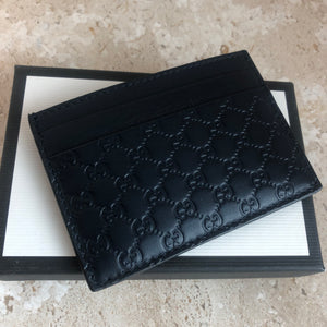 Authentic GUCCI Navy Leather Card Holder