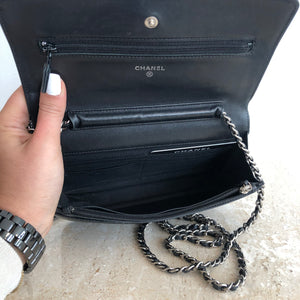 Authentic CHANEL Vintage Black Timeless WOC