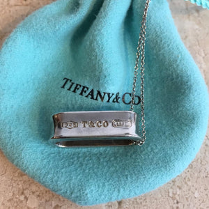 Authentic TIFFANY & CO. Sterling Silver Loop Pendant Necklace