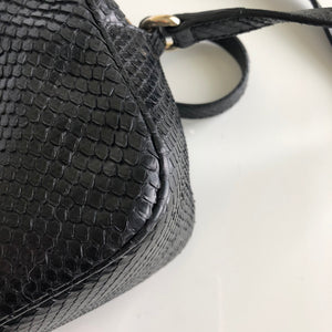 Authentic GUCCI Black Python Soho Disco