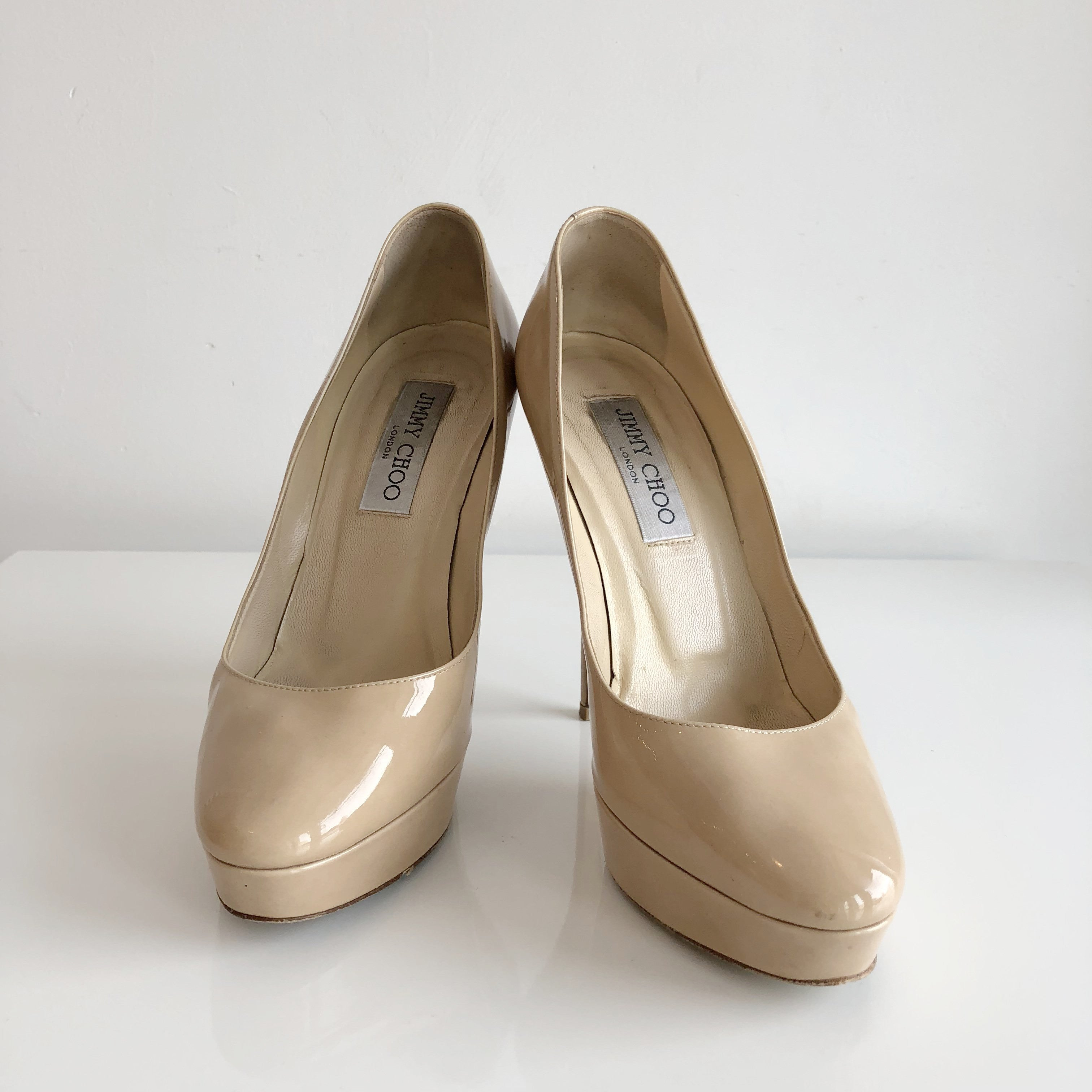 Authentic JIMMY CHOO Cosmic Nude Shoes Size 7