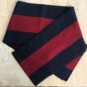 Authentic GUCCI Web Scarf - Navy & Red