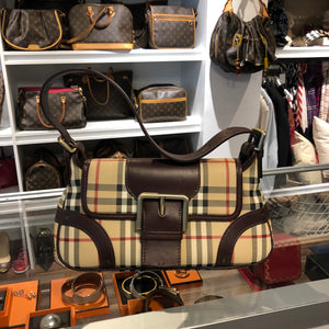 Authentic BURBERRY Haymarket Bag