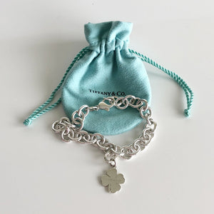 Authentic TIFFANY & CO Four Leaf Clover Charm Bracelet
