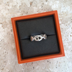 Authentc HERMES Chaine d'Ancre Enchainee Ring