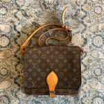 Authentic LOUIS VUITTON Cartouchire Vintage Monogram MM Crossbody