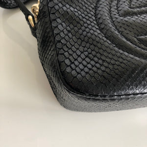 7ae0ae32ce15 Authentic GUCCI Black Python Soho Disco – Valamode