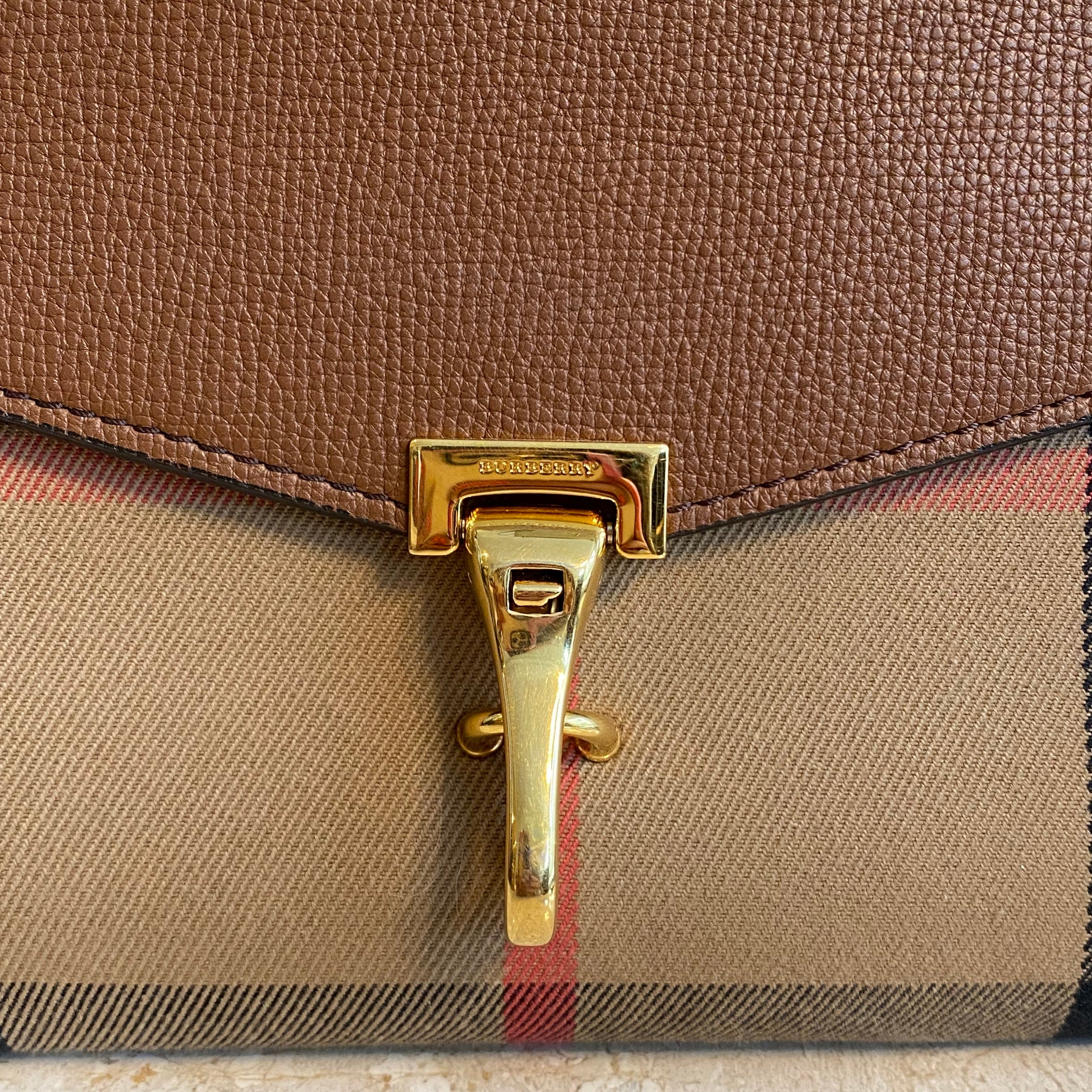 Authentic BURBERRY Small Macken House Check Crossbody.