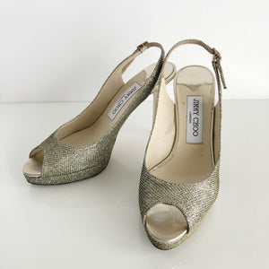 Authentic JIMMY CHOO Glitter Luna - Size 6.5