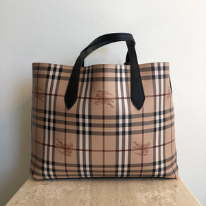 Authentic BURBERRY Haymarket Reversable Tote