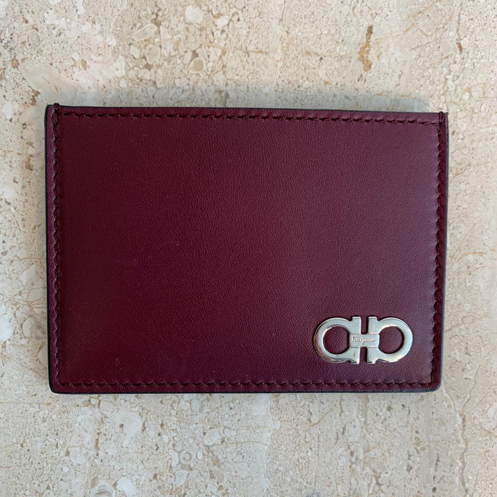 Authentic SALVATORE FERRAGAMO Dual Colour Card Holder