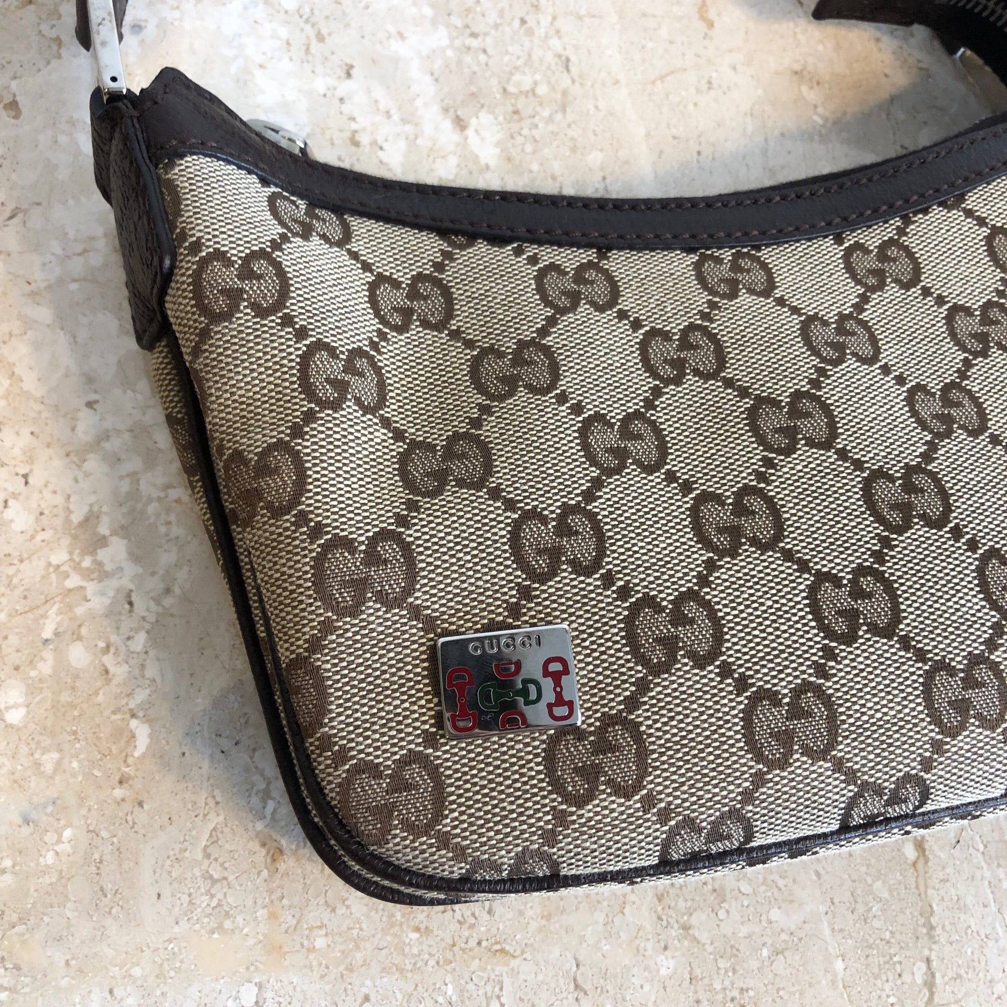 Authentic GUCCI Mini Web Handbag