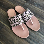 Authentic GUCCI Pink Bamboo Print Thong Sandals LMM