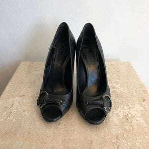 888237b0b Authentic GUCCI Black Guccissima Horsebit Shoes Size 6.5 – Valamode