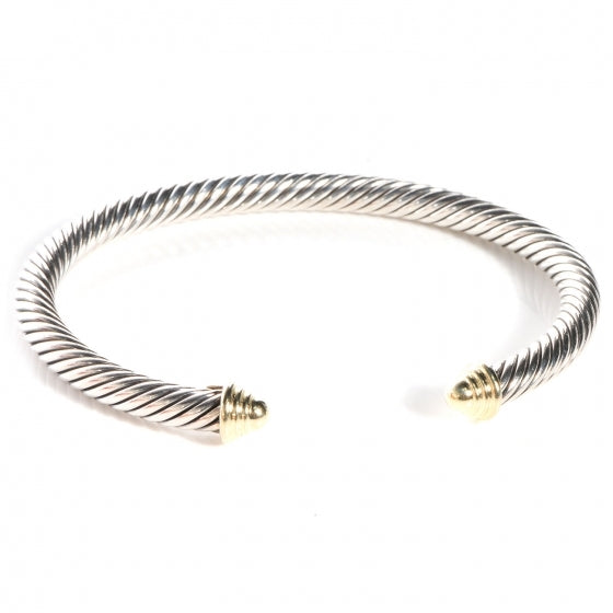 Authentic DAVID YURMAN 5mm Cable Bracelet 14 K Gold