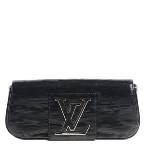 Authentic LOUIS VUITTON Sobe Black Electric Epi Clutch