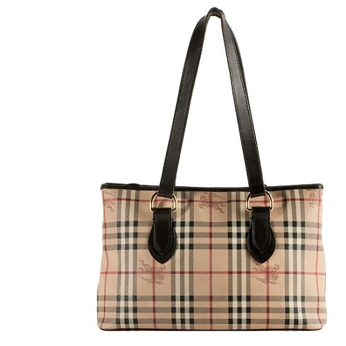 Authentic BURBERRY Haymarket Tote