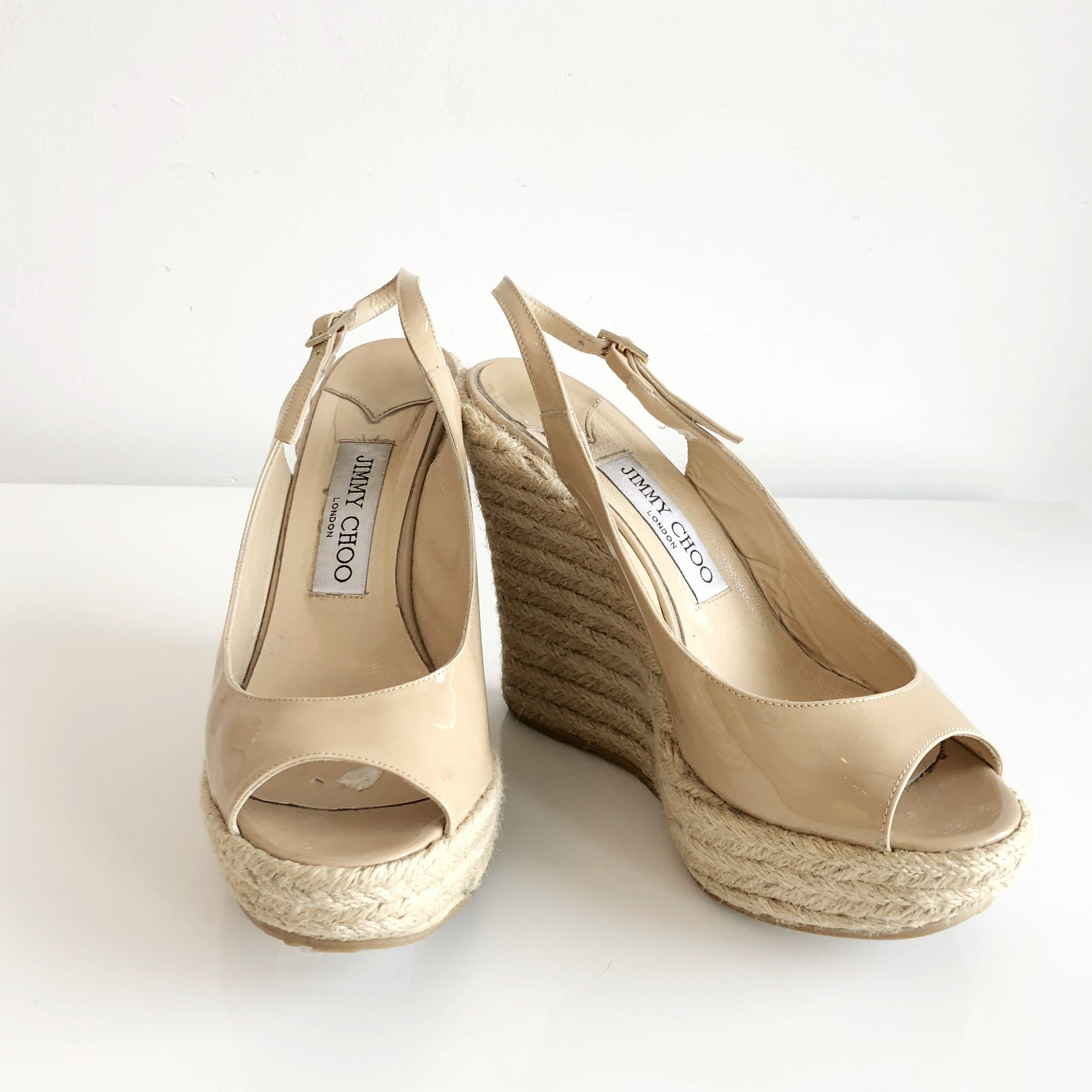 Authentic JIMMY CHOO Polar Espadrille Wedge Size 7.5