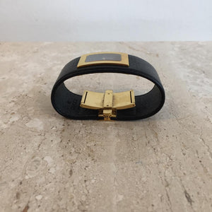 Authentic GUCCI Large Cuff Leather Watch