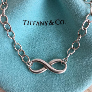 Authentic TIFFANY & CO. Sterling Silver Infinity Bracelet