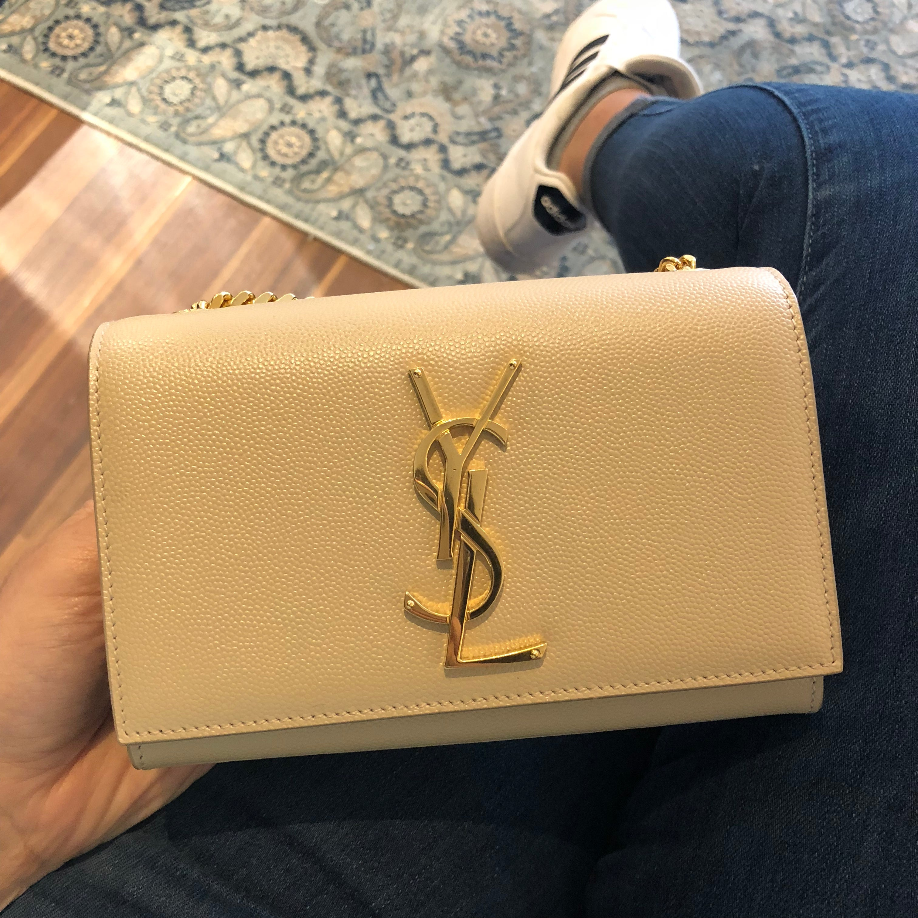 Authentic YSL Small Kate Beige Crossbody/Clutch