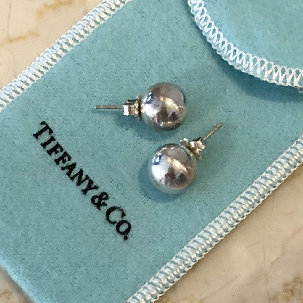 Authentic TIFFANY & CO Bead Ball Earrings