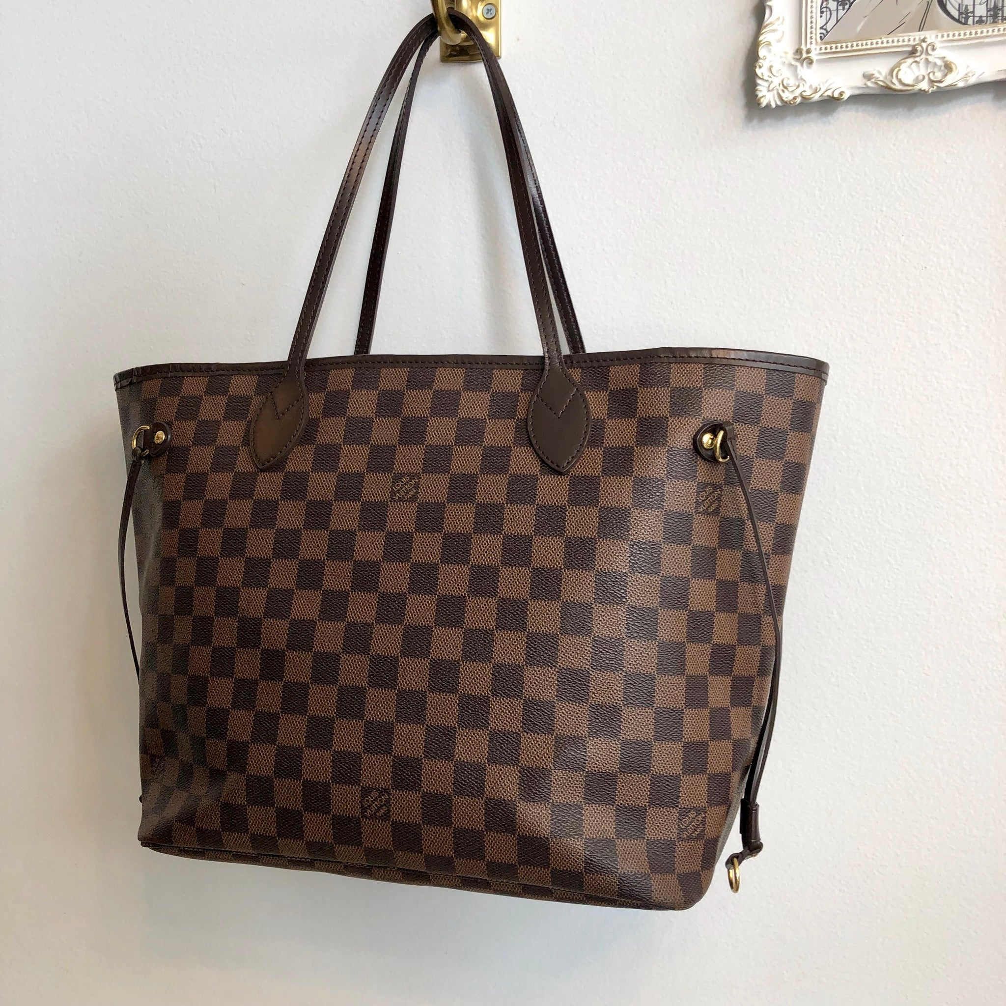 Authentic LOUIS VUITTON Neverfull MM Damier Ebene