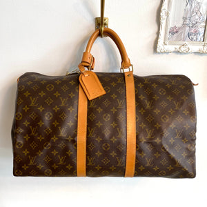 Authentic LOUIS VUITTON Vintage Monogram Keepall 50