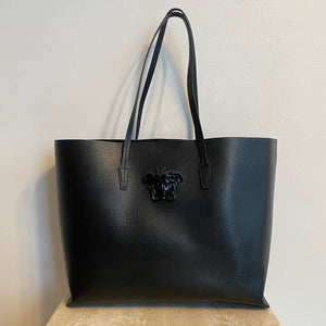 Authentic VERSACE Black Shopping Tote
