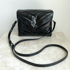 Authentic YVES SAINT LAURENT Patent Toy Loulou Crossbody Bag