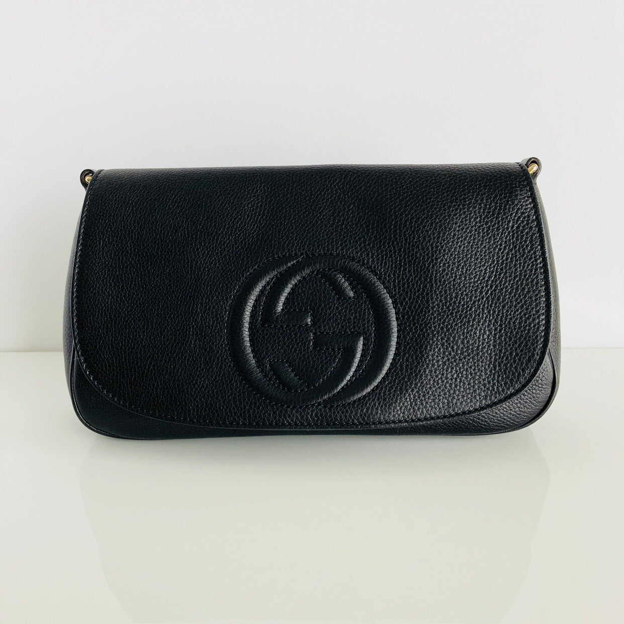 Authentic GUCCI Black Soho Clutch Bag