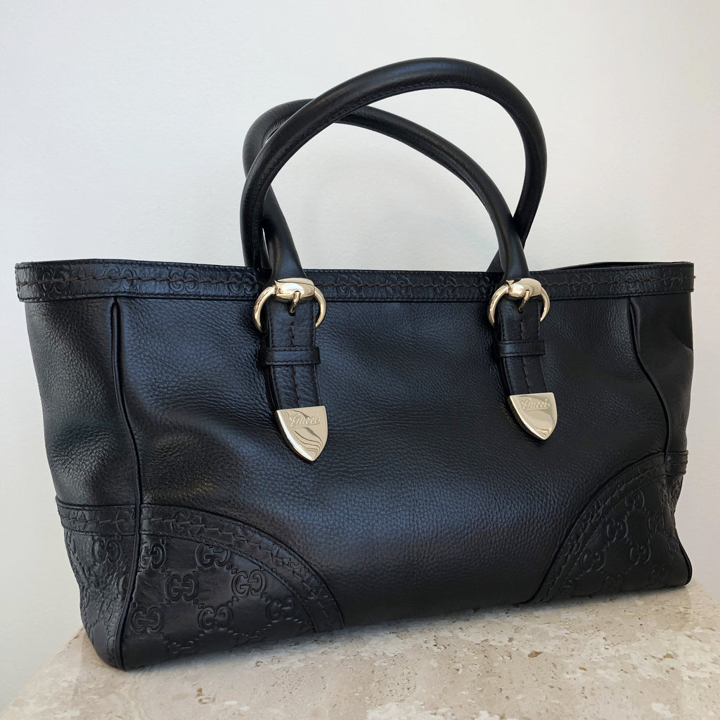 Authentic GUCCI Black Signoria Tote