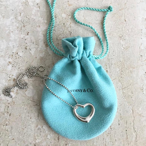 Authentic TIFFANY & CO. Open Heart Necklace