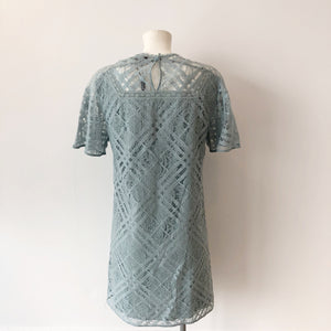 Authentic Burberry Keri Floral Check Lace Dress