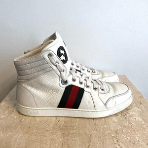 Authentic GUCCI High-Top White Sneakers