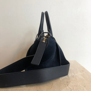 FINAL PAYMENT Authentic YVES SAINT LAURENT Navy Small Cabas