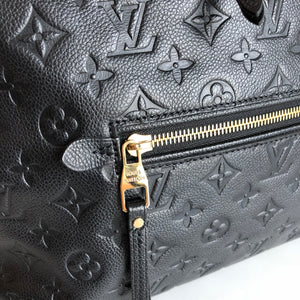 Authentic LOUIS VUITTON Empreinte MM Black Leather Bag